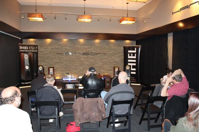 Listening to the CS2.7's in Hanson AV's larger demo room