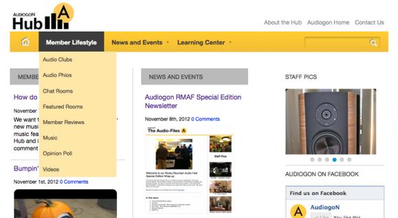 The Hub homepage