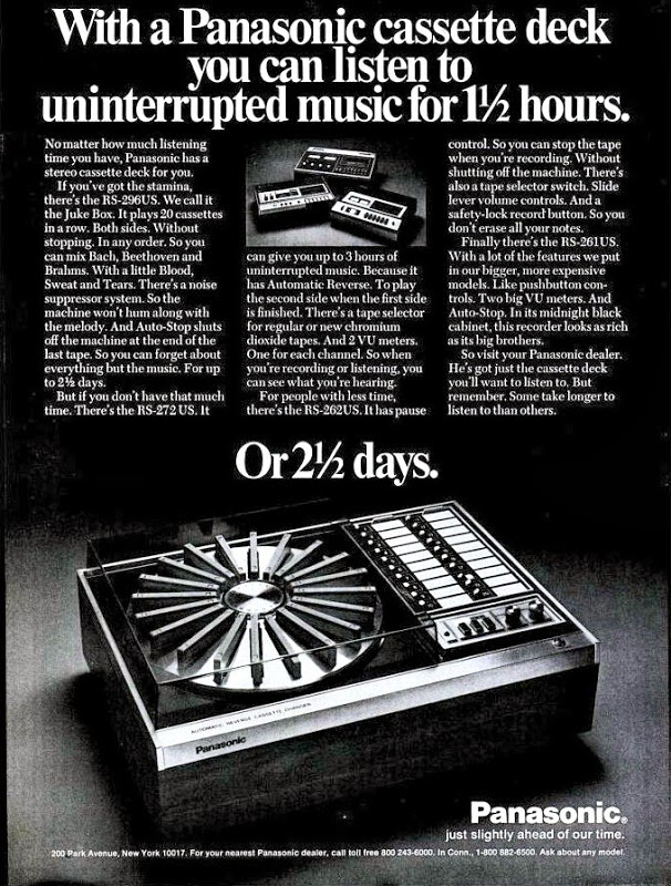 Panasonic RS-296US magazine advertisement.