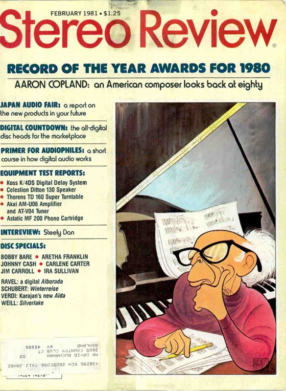 stereo review feb81 cover